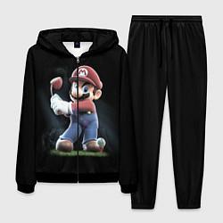Костюм мужской Марио цвета 3D-черный — фото 1