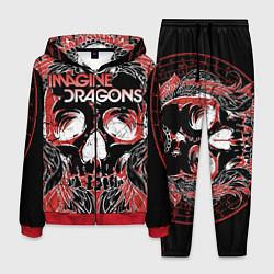 Костюм мужской Imagine Dragons цвета 3D-красный — фото 1