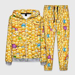 Костюм мужской Смайлики Emoji цвета 3D-меланж — фото 1