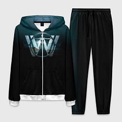 Костюм мужской Westworld Logo цвета 3D-белый — фото 1