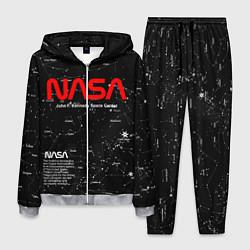 Костюм мужской NASA цвета 3D-меланж — фото 1