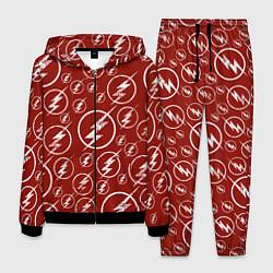 Костюм мужской The Flash Logo Pattern цвета 3D-черный — фото 1