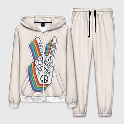 Костюм мужской PEACE and LOVE Z цвета 3D-белый — фото 1