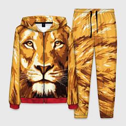 Костюм мужской Взгляд льва цвета 3D-красный — фото 1