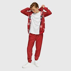 Костюм мужской Модный зайка цвета 3D-красный — фото 2