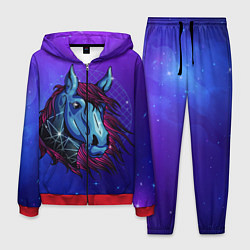 Костюм мужской Retrowave Neon Horse цвета 3D-красный — фото 1
