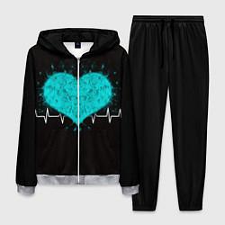 Костюм мужской Стук сердца цвета 3D-меланж — фото 1