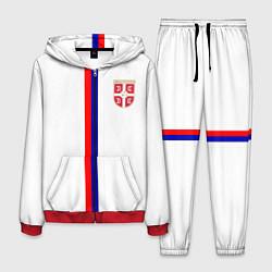 Костюм мужской Сборная Сербии цвета 3D-красный — фото 1