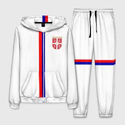 Костюм мужской Сборная Сербии цвета 3D-белый — фото 1
