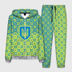 Костюм мужской Украина алатырь цвета 3D-меланж — фото 1