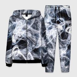 Костюм мужской Графика дыма цвета 3D-черный — фото 1