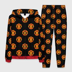 Костюм мужской Manchester United Pattern цвета 3D-красный — фото 1