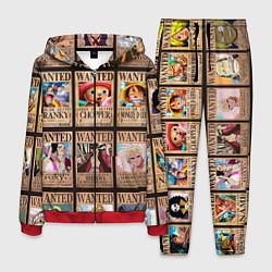 Костюм мужской One Piece цвета 3D-красный — фото 1