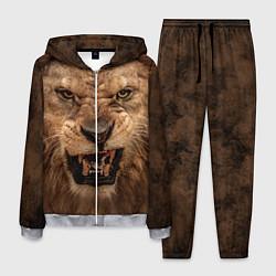 Костюм мужской Взгляд льва цвета 3D-меланж — фото 1