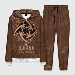 Костюм мужской Ninjas In Pyjamas цвета 3D-белый — фото 1