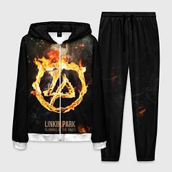 Костюм мужской Linkin Park: Burning the skies цвета 3D-белый — фото 1
