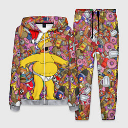 Костюм мужской Обжора Гомер цвета 3D-меланж — фото 1