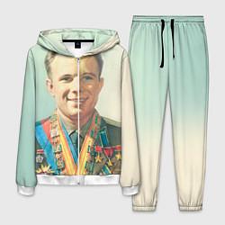 Костюм мужской Гагарин в орденах цвета 3D-белый — фото 1