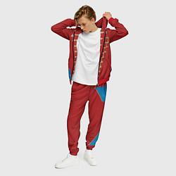 Костюм мужской Пиджак Майкла Джексона цвета 3D-красный — фото 2