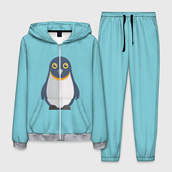 Костюм мужской Пингвин цвета 3D-меланж — фото 1