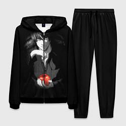 Костюм мужской Тетрадь смерти 4 цвета 3D-черный — фото 1
