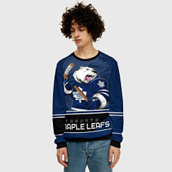 Свитшот мужской Toronto Maple Leafs цвета 3D-черный — фото 2