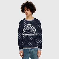 Свитшот мужской Illuminati цвета 3D-меланж — фото 2