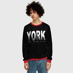 Свитшот мужской New York City цвета 3D-красный — фото 2