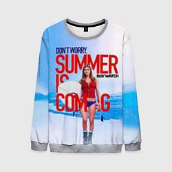 Свитшот мужской Summer is coming цвета 3D-меланж — фото 1