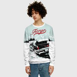 Свитшот мужской Fargo Car цвета 3D-белый — фото 2