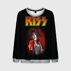 Свитшот мужской KISS: Paul Stanley цвета 3D-меланж — фото 1