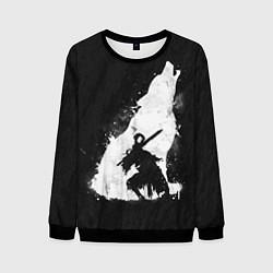 Свитшот мужской Dark Souls: Howling Wolf цвета 3D-черный — фото 1