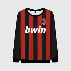 Свитшот мужской AC Milan: Ronaldo Retro цвета 3D-черный — фото 1