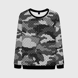 Свитшот мужской Черный камуфляж цвета 3D-черный — фото 1