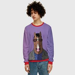 Свитшот мужской Конь БоДжек цвета 3D-красный — фото 2