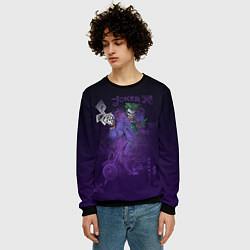 Свитшот мужской Joker and playing cards цвета 3D-черный — фото 2