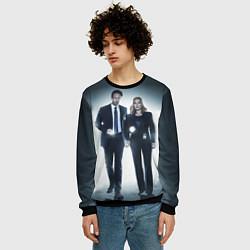 Свитшот мужской Малдер и Скалли цвета 3D-черный — фото 2