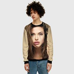 Свитшот мужской Анжелина Джоли цвета 3D-черный — фото 2