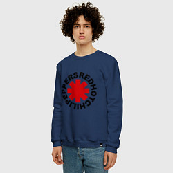 Свитшот хлопковый мужской Red Hot Chili Peppers цвета тёмно-синий — фото 2