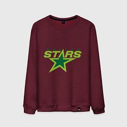 Свитшот хлопковый мужской Dallas Stars цвета меланж-бордовый — фото 1