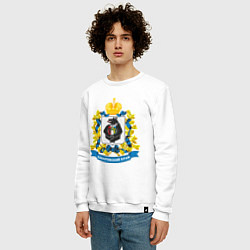 Свитшот хлопковый мужской Хабаровский край цвета белый — фото 2