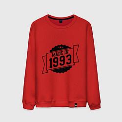 Свитшот хлопковый мужской Made in 1993 цвета красный — фото 1