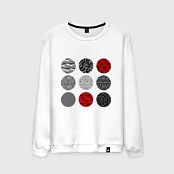 Свитшот хлопковый мужской TOP: Blurryface цвета белый — фото 1
