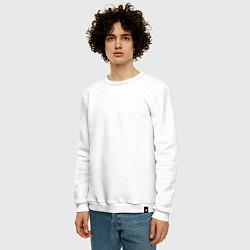 Свитшот хлопковый мужской Rammstein: Engel цвета белый — фото 2
