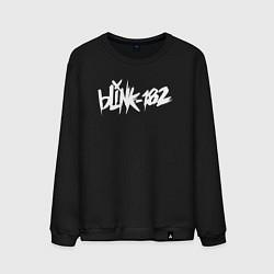 Свитшот хлопковый мужской Blink 182 цвета черный — фото 1