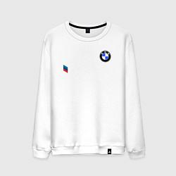 Свитшот хлопковый мужской BMW M PERFORMANCE 2020 цвета белый — фото 1