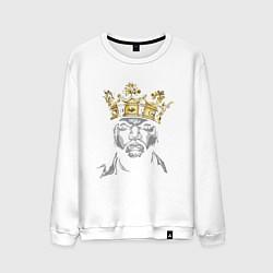 Свитшот хлопковый мужской Ice Cube King цвета белый — фото 1