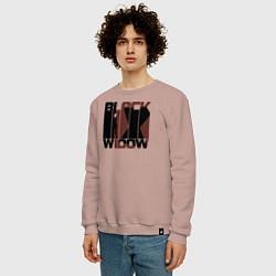 Свитшот хлопковый мужской Black Widow цвета пыльно-розовый — фото 2