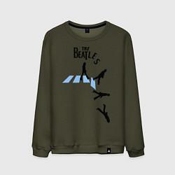 Свитшот хлопковый мужской The Beatles: break down цвета хаки — фото 1