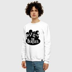 Свитшот хлопковый мужской The Beatles Band цвета белый — фото 2